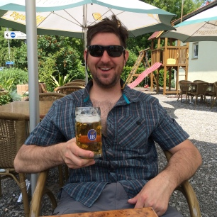 Enjoying a beer in Speyer, Germany - my Pop Pop's birth town!