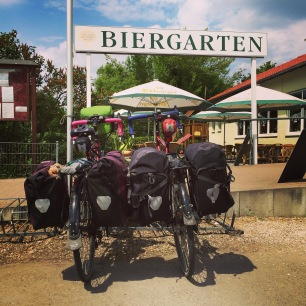 Enjoying a beer in Speyer, Germany - my Pop Pop's birth town!