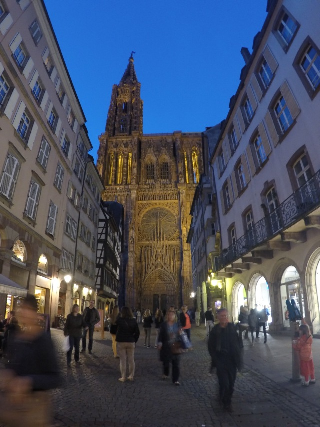 Notre Dame, Strasbourg at night