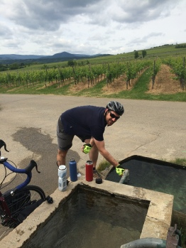 Free, clean water in Alsace wine country