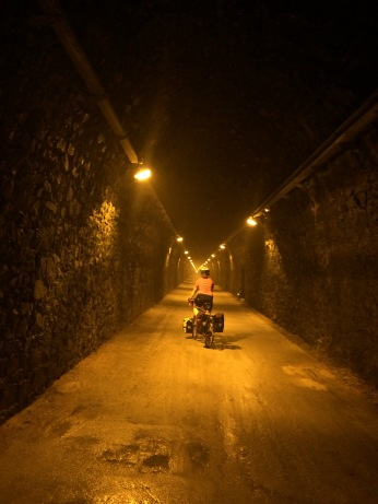 5 miles of underground tunnel