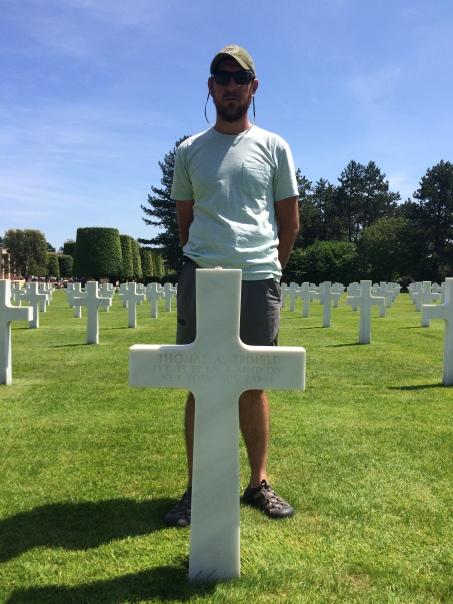 American Memorial Cemetery. Thomas J. Trimble, family deceased in WW2.