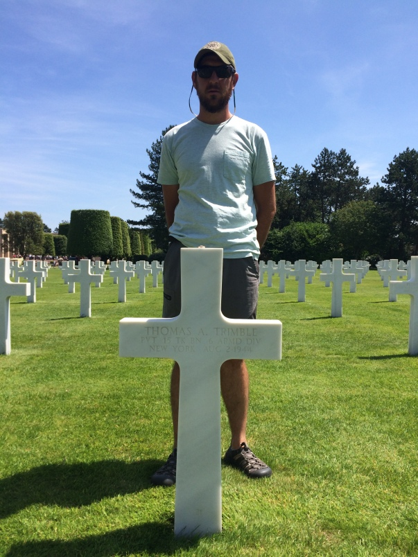 American Memorial Cemetery. Thomas J. Trimble, family deceased in WW2.