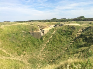 Crater remnants of Allied Bombing before D-Day, Point du Hoc