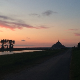 Sunset at Le Mont St. Michel