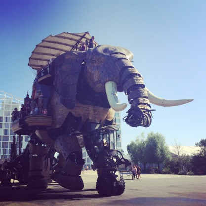 The mechanical elephant, in Nantes