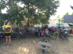 Dozen of bicycles in Saumur, Loire River Valley