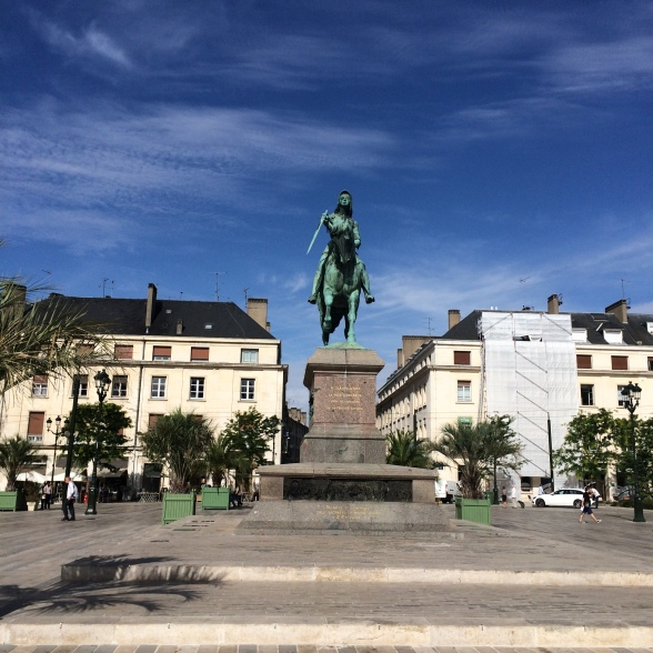 Jean D'Arc monument in Orleans