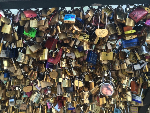 The famous 'love locks'