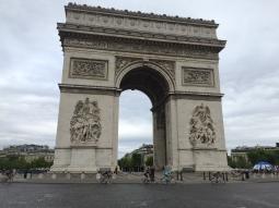 The grande finale of the Tour de France at the Arc de Triomphe