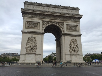 The grande finale of the Tour de France at the Arc de Triomphe