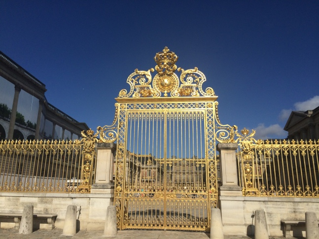 The gilded gates of Versailles