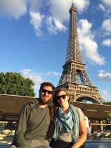 Sunset river cruise on the Seine River