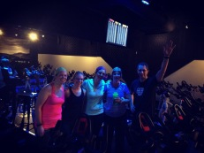 Woohoo! Emily & Big Barb's 1st spin class