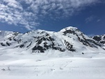 Listening to avalanches slide off the top of peaks