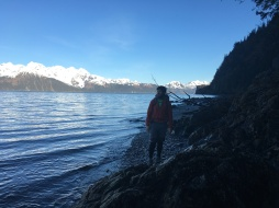Hiking out at low tide