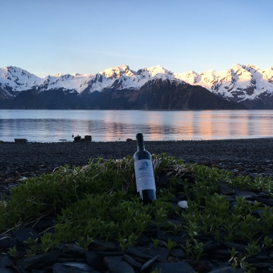 Enjoy a bottle of French wine on the beach