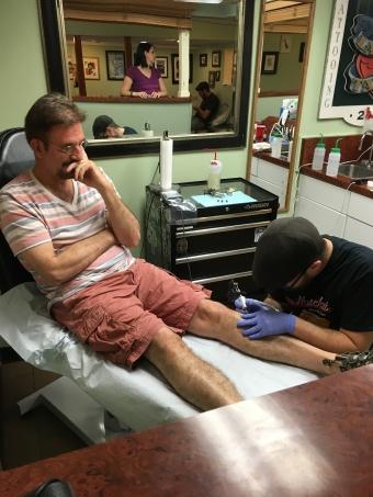 John White's 1st tattoo!