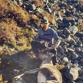 Jared and his prize caribou - well done!