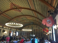 The historic hall, upstairs - the first flag is from Speyer, my grandfather's birth town