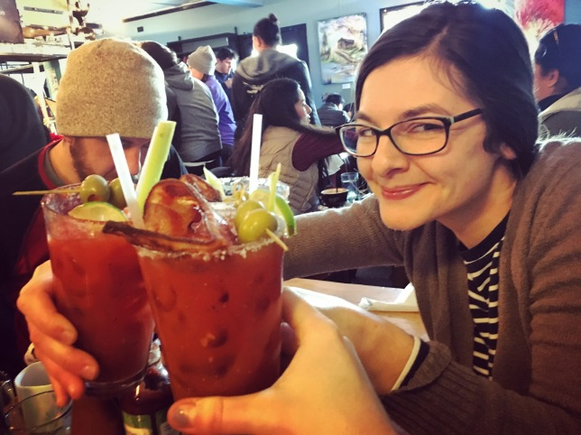 Sunday: Bloody @ the Tinshed, with our host Deb