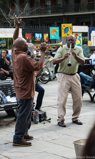 Street music. Photo credit: William Shook