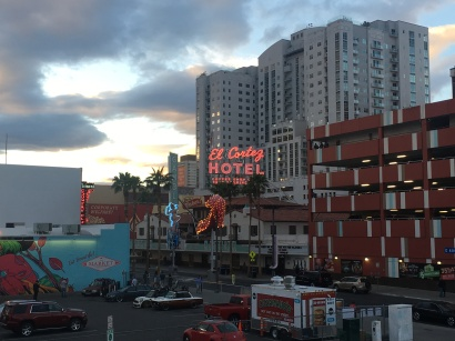 Sunset over the neon strip - wondering if we should go back...
