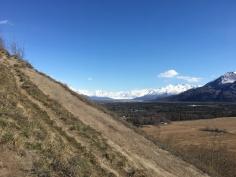 Looking back at Knik Glacier