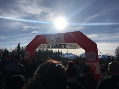 Alaska Heart Run start line