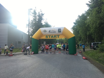 The start line of the 2017 Anchorage Mayor's Midnight Sun Marathon